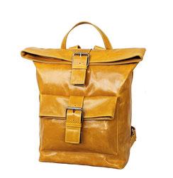 Rucksack Leder gelb EM-EL Collection Schweiz