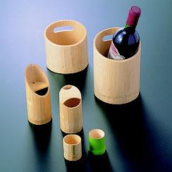 竹を使った酒器のシリーズです。