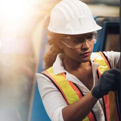 Zum Arbeits- und Gesundheitsschutz von safety steps