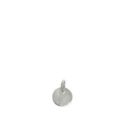 Pure Trend geometrisches Kreisrundes  Schmuckstück, Anhänger aus Silber, poliert.