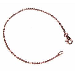925 Silber Damen Armband. Kugelarmband aus  Ø 1,5 Kugeln, rosé vergoldet mit Verschluss.