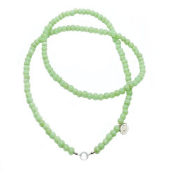 Opera Perlenketten, Glasperlenkette grün, zart grün