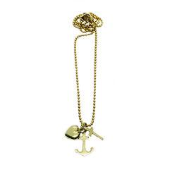 GOLD, gelbgold, ver-goldet- Halskette kleiner Liebe&Glaube&Hoffnung Anhänger