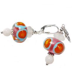 Bunte hochwertige Glasperlen Ohrringe