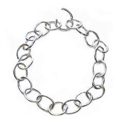 Kette aus 999 Silber, Halskette für Frauen ü50. 60 cm lang. XL Ösengliederkette