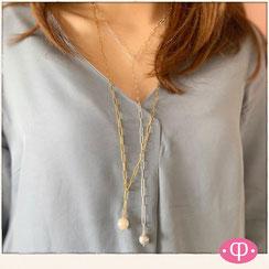Damenhalskette, modische Y Form Halskette, Lassokette aus 925 Sterlingsilber, gefertigt in Stuttgart