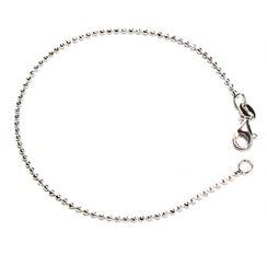 Armband in Kugelgliederung 1,5 mm Silber mit Verschluss