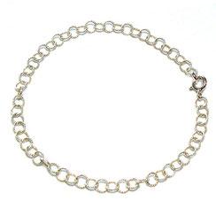 Gekordeltes feines Silberarmband aus 925 Silber in verschieden Größen.