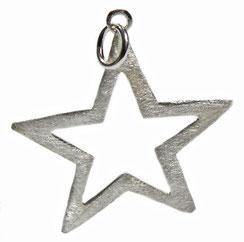großer Fünfeck ★ Sternanhänger. Silbersternanhänger ★ Stern. Sterne. großer stern. XL ★ Stern. Sternanhänger als Charm. Stern als Anhänger für lange Halsketten. ★ 925 Silber.
