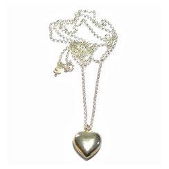 klassische Herzketten ♥ Kette mit Herz, 925 Sterling Silber, kurze Kette, Halskette, Kette für Frauen und Mädchen. Stuttgart.
