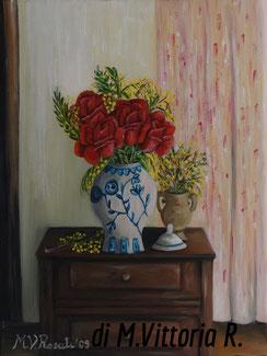 l'interno, olio su tela cm 30x40 anno 2009
