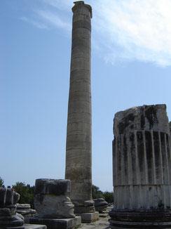 Le site a subi un tremblement de terre au XVème siècle. Cette colonne semble y avoir mieux résisté que d'autres...