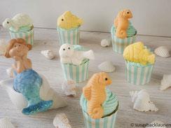 Cupcakes mit Meeresdeko