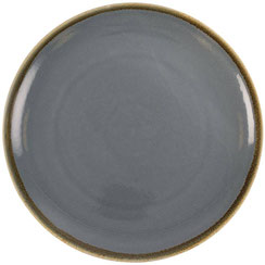 Flache runde Essteller mit abgerundetem Rand aus Porzellan Olympia Kiln. In verschiedenen Größen und Farben erhältlich.