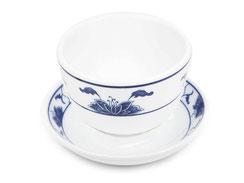 Teetasse und Untersetzer aus hochwertigem Porzellan aus Taiwan und China der Marken Tatung, Li, Cameo und Datung. In verschiedenen Größen und Motiven erhältlich.