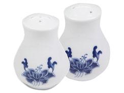 Salz- & Pfefferstreuer aus hochwertigem Porzellan aus Taiwan und China der Marken Tatung, Li, Cameo und Datung. In verschiedenen Größen und Motiven erhältlich.