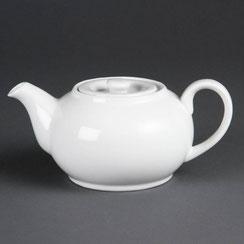 Teekanne aus weißem Olympia Porzellan. Ideal für die hohen Ansprüche in der Gastronomie.