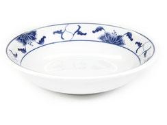 Flache Schale aus hochwertigem Porzellan aus Taiwan und China der Marken Tatung, Li, Cameo und Datung. In verschiedenen Größen und Motiven erhältlich.