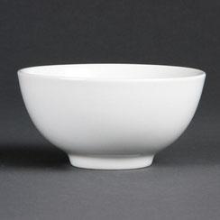 Reisschüssel aus weißem Olympia Porzellan. Ideal für die hohen Ansprüche in der Gastronomie.