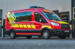 Folierung Feuerwehrfahrzeug