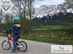 Rad Radfahren Zugspitze Bergschmuck Tiroler Zugspitz Region Golfplatz