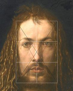 (Bild 13) Albrecht Dürer, Selbstbildnis im Pelzrock (Ausschnitt), 1500, Öl auf Lindenholz, 67,1 x 48,9 cm, Inv.Nr. 537, Alte Pinakothek München / Bayerische Staatsgemäldesammlungen