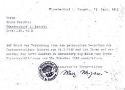 Entlassung 1945
