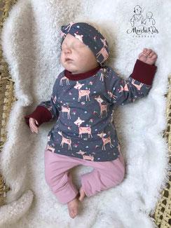 Baby Newborn Set Baby Shirt Hose Geschenk zur Geburt MorchiKids