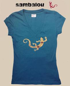 Sambalou T-shirt 100% coton biologique collection femme salamandre
