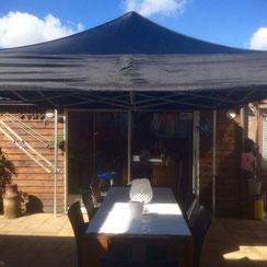 easy-up tent 3x3 zwart