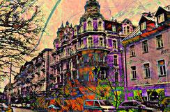 Marienbad. Die Promenade. Digitally remastered.