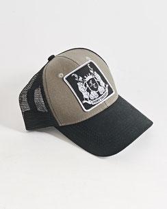 Basecap grau-schwarz