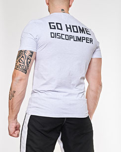T-Shirt hellgrau GO HOME DISCOPUMPER