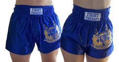 MuayThai-Shorts blau-gold