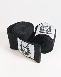 Bandagen kurz, schwarz, unelastisch