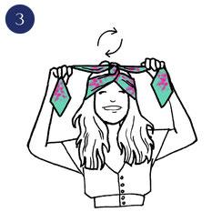 Tuto porter foulard espiègle 3