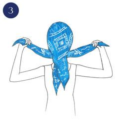 Tuto porter foulard bohème 3