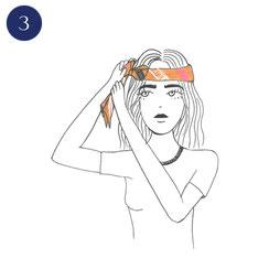 Tuto porter foulard Hippie Chic 3