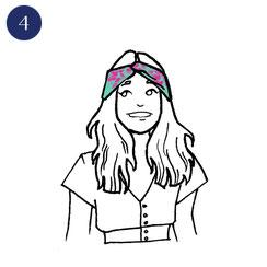Tuto porter foulard espiègle 4