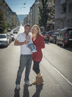 Familenbilder  Stadt Neugeborene Baby