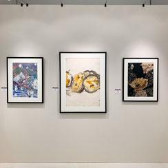 Ausstellungstand, galerie artziwna, Messe Fair For Art 2019, Wien / Christian Ludwig Attersee, Josef Mikl, Leopold Ganzer