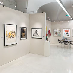 Ausstellungstand, galerie artziwna, Messe Fair For Art 2019, Wien / Josef Mikl, Arnulf Rainer, Hermann Nitsch