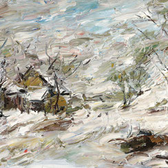 Viktor Lederer, Schneesturm, Ausstellung, galerie artziwna, Wien