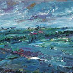 Künstler Viktor Lederer, Flutende Landschaft, Ausstellung, galerie artziwna, Wien 2019