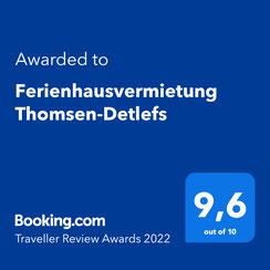 Booking.com Auszeichnung Guest Review