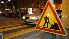 Détournement de panneau réalisé à Bagnolet