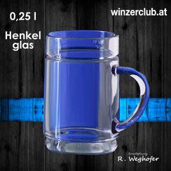 Mehrwegbecher, 0,25l Henkel-Becher, transparent, verleih, ausleihen, Wien, Vösendorf, winzerclub.at, landgut weghofer