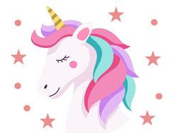 Wandtattoo Wandaufkleber Wandsticker günstig online kaufen  Mädchenzimmer Mädchen Zimmer Kinderzimmer Baby Kind  Einhorn Sterne Unicorn Geschenk Lichtschalter klein