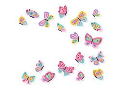 Wandtattoo Wandaufkleber Wandsticker günstig online kaufen  Mädchenzimmer Mädchen Zimmer Kinderzimmer Baby Kind  Schmetterlinge verschönern Vögel bunt