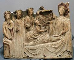 Adoration des mages, albâtre, vers 1370
